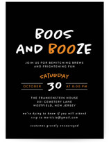 This is a black holiday party invitation by Heather Schertzer called Faboolous with standard printing on signature in standard.