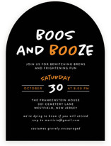 This is a black holiday party invitation by Heather Schertzer called Faboolous printing on signature in standard.