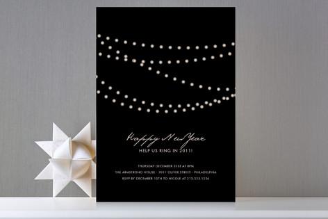 Midnight Vineyard Holiday Party Invitations