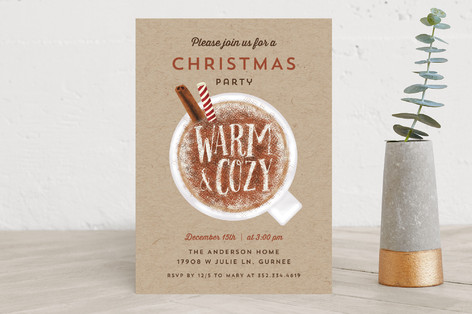 It's warm and cozy Holiday Party Invitations