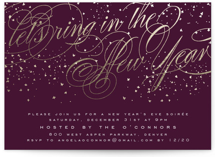 New Year Soiree Holiday Party Invitations