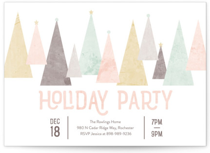 Aluminum Christmas Tree Holiday Party Invitations