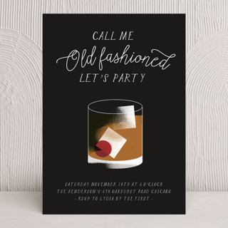 Old Fashioned Holiday Party Invitations
