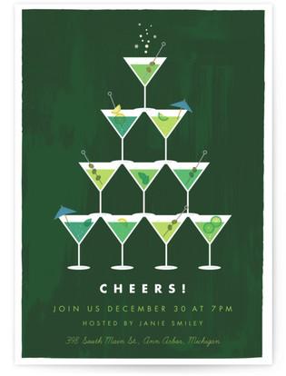 marTREEni Holiday Party Invitations