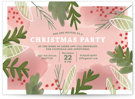 Christmas fete Holiday Party Invitations