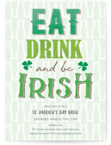 Eat, drink and be Irish St. Patrick's Day Invitation