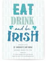 Eat, drink and be Irish St. Patrick's Day Invitation