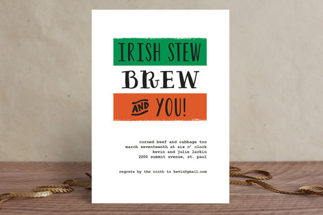 Irish Stew Holiday Party Invitations