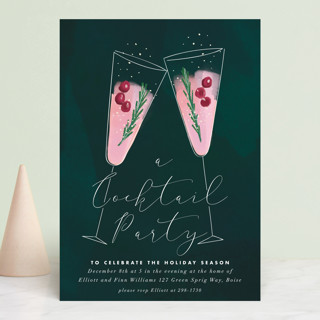 a holiday toast Holiday Party Invitations