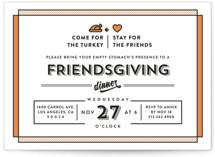 Friendsgiving Holiday Party Invitations