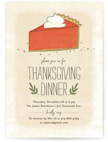 This is a orange holiday party invitation by Guess What Design Studio called Pumpkin Pie printing on signature.