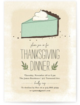 This is a green holiday party invitation by Guess What Design Studio called Pumpkin Pie printing on signature.