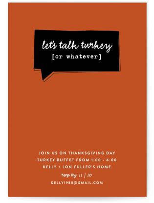 Talk Turkey Holiday Party Invitations