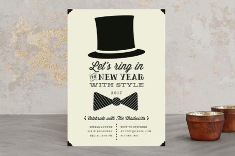 Black Tie Holiday Party Invitations