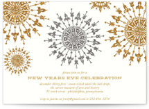 This is a white holiday party invitation by That Girl Press called Revelry printing on signature.