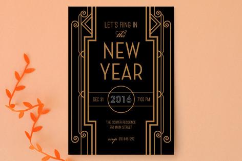 Gatsby New Year Holiday Party Invitations
