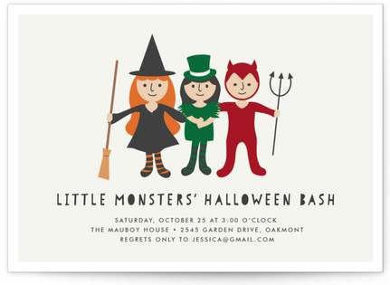 Little Monsters' Bash Holiday Party Invitations