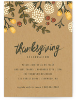 This is a yellow holiday party invitation by Karidy Walker called Festive Autumn Foliage printing on signature.
