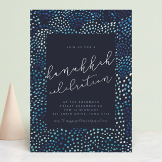 watercolor dots new year Holiday Party Invitations