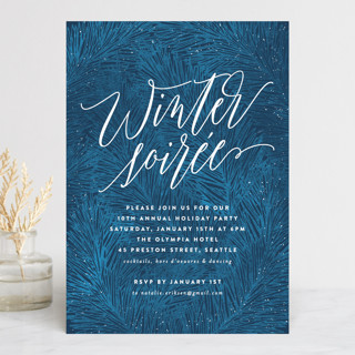 Winter Pine Holiday Party Invitations