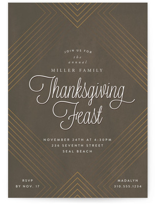 Thanksgiving Feast Holiday Party Invitations