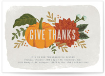 This is a green holiday party invitation by Karidy Walker called festive give thanks printing on signature.