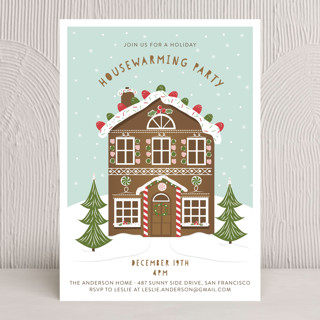 Gingerbread Party Holiday Party Invitations