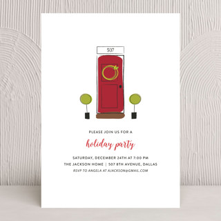 Open House Holiday Party Invitations