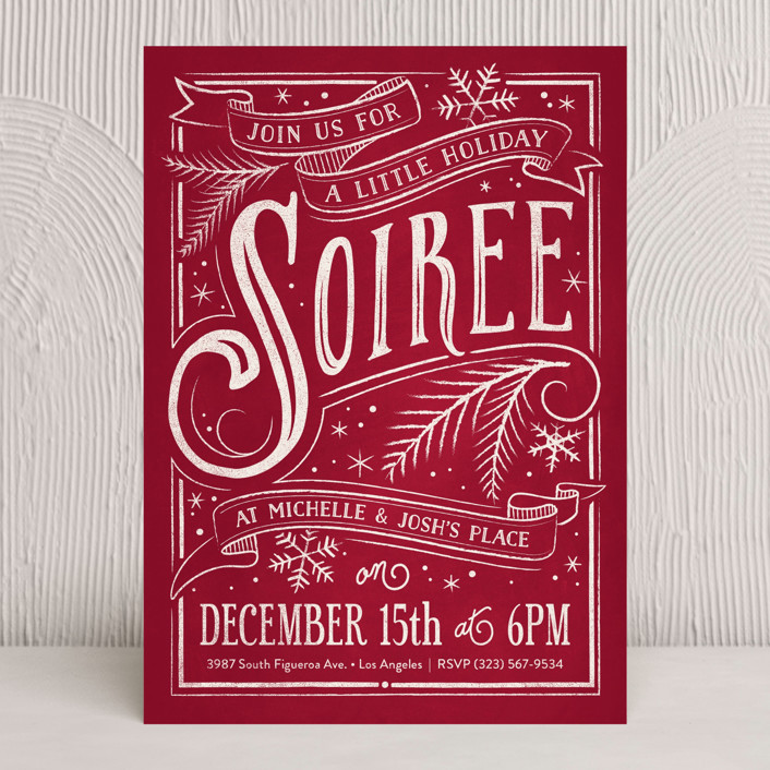 Holiday Soiree designed by GeekInk Design