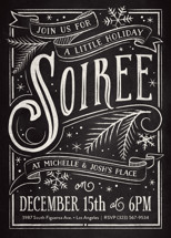 Holiday Soiree Holiday Party Invitations By GeekInk Design