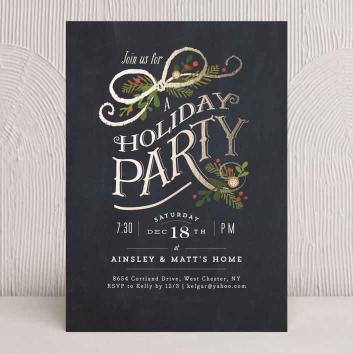 Nightfall Holiday Party Invitations By