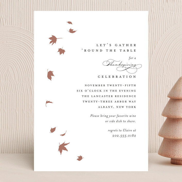 """""""Pirouette"""" - Holiday Party Invitations in Noir by Kimberly FitzSimons."""