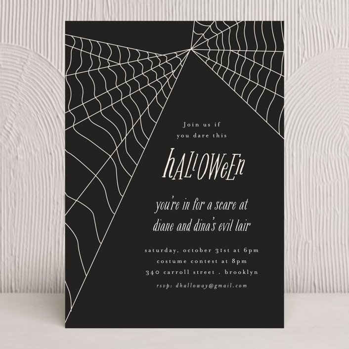 """""""Web"""" - Holiday Party Invitations in Night by Morgan Kendall."""