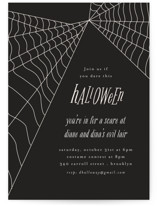 This is a black holiday party invitation by Morgan Kendall called Web with standard printing on signature in standard.