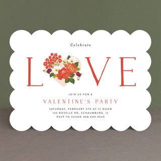 Vintage Love Holiday Party Invitations