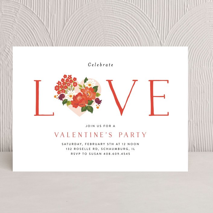 """Vintage Love"" - Holiday Party Invitations in Spice by Nazia Hyder."