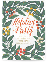 This is a orange holiday party invitation by Faiths Designs called Cheers to the Holidays printing on signature.