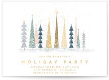 This is a white holiday party invitation by Laura Mitchell called Happy Holidays printing on signature.