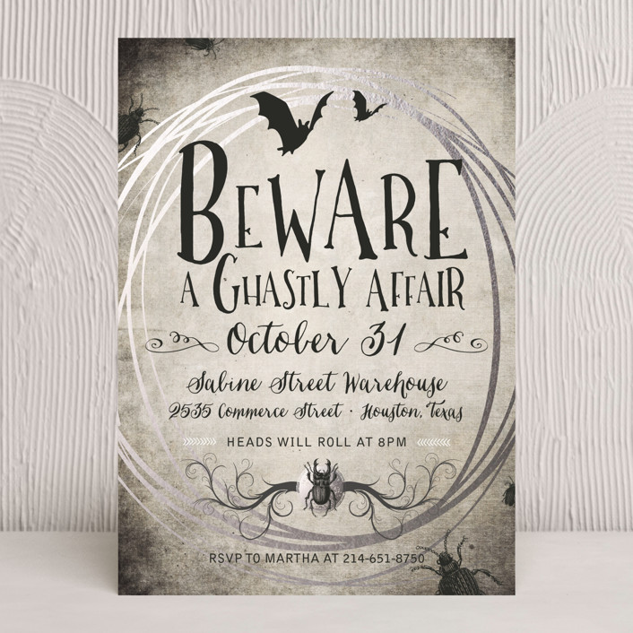 """""""A Ghastly Affair"""" - Holiday Party Invitations in Eclipse by tad and faboo."""