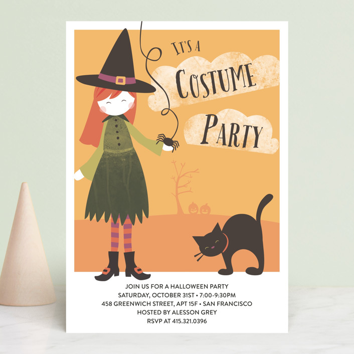 """Bella's Bash"" - Holiday Party Invitations in Peach by peetie design."