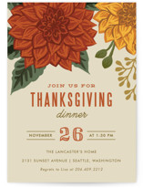This is a green holiday party invitation by Karidy Walker called Autumn Blooms printing on signature.