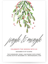 This is a white holiday party invitation by Anupama called Merry Christmas printing on signature.