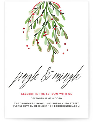 Merry Christmas Holiday Party Invitations