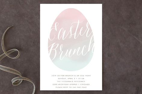Pastel Egg Holiday Party Invitations