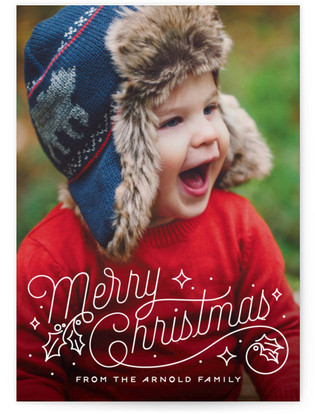 Christmas Script Holiday Postcards