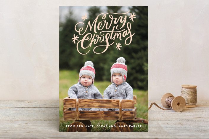"""Classically Scripted Christmas"" - Holiday Postcards in Rosy Cheeks by Alethea and Ruth."