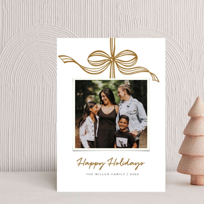 """""""Tied with a bow"""" - Holiday Postcards in Crimson by SimpleTe Design."""