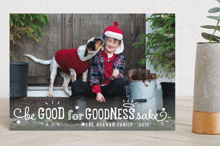 """Goodness Sake"" - Holiday Postcards in Snowflake by Anne Holmquist."