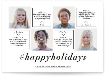 Hashtag Holiday Holiday Postcards