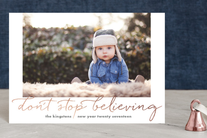 """Just Gotta Believe"" - Holiday Postcards in Ash by Carol Fazio."